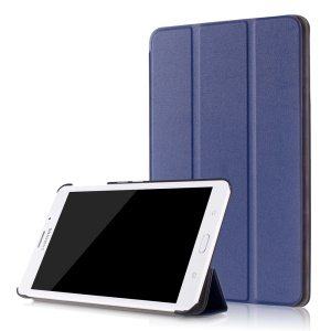 Leather Case Tri-fold Stand Cover for Samsung Galaxy Tab J 7.0 T285DY - Dark Blue
