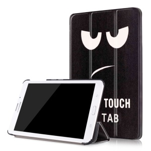 Leather Tri-fold Flip Cover for Samsung Galaxy Tab J 7.0 T285DY - Do Not Touch My Tab