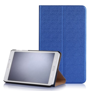 Sand-like Texture Tablet Leather Cover for Samsung Galaxy Tab J 7.0 T285DY - Dark Blue