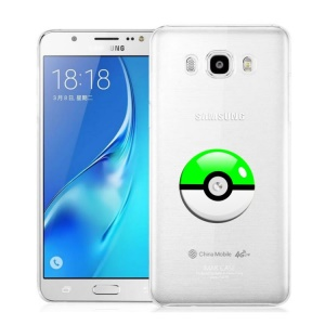 Pokemon 3D Poke Ball Clear TPU Case for Samsung Galaxy J7 (2016) J710F/J710G - Green