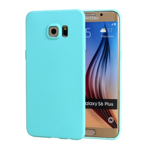 0.8mm Fresh Color Candy TPU Skin Case for Samsung Galaxy S6 edge+ G928 - Baby Blue