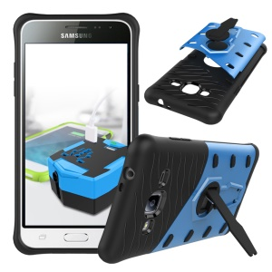 Armor PC + TPU Hybrid Case with Kickstand for Samsung Galaxy J3 (2016) - Blue