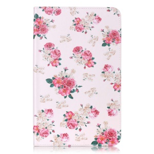 Wallet Leather Case for Samsung Galaxy Tab A 10.1 (2016) T580 T585 - Elegant Roses