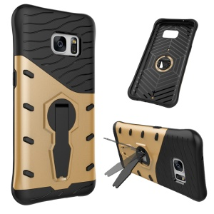 Armor PC + TPU Hybrid Case Cover with Kickstand for Samsung Galaxy S7 SM-G930 - Gold