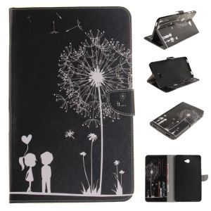 Wallet Flip Leather Tablet Cover for Samsung Tab A 10.1 (2016) T580 T585 - Dandelion and Sweet Lovers
