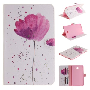 Wallet Stand Flip Leather Case for Samsung Tab A 10.1 (2016) T580 T585 - Beautiful Flower