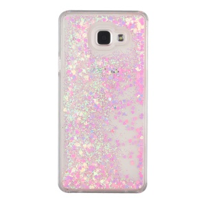 Fließende glitzernde Sequins PC Hard Shell Cover für Samsung Galaxy A5 SM-A510F (2016) - Rosa