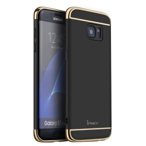IPAKY 3-in-1 Electroplating PC Hard Case for Samsung Galaxy S7 edge G935 - Black