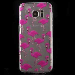 Ultrathin Gel Skin TPU Cover for Samsung Galaxy S7 G930 - Flamingo