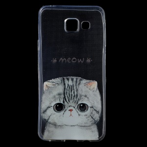 IMD Pattern Soft TPU Shell Cover for Samsung Galaxy A3 SM-A310F (2016) - Lovely Cat