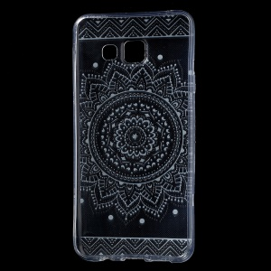 IMD Pattern Soft TPU Phone Shell for Samsung Galaxy A3 SM-A310F (2016) - Mandala Pattern