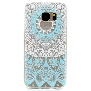Patterned Soft TPU Gel Cover for Samsung Galaxy S7 G930 - Henna Flower