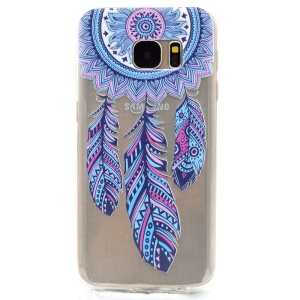 Soft TPU Skin Patterned Cover for Samsung Galaxy S7 G930 - Tribal Dream Catcher