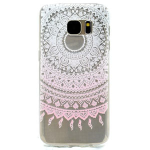 Patterned TPU Protection Cover for Samsung Galaxy S7 G930 - Mandala Flower