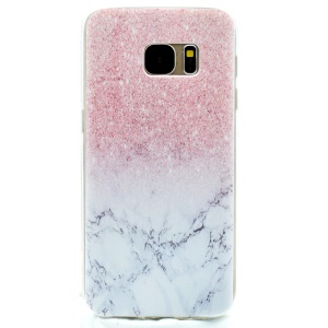 Patterned TPU Skin Back Case for Samsung Galaxy S7 G930 - Glitter Marble Pattern