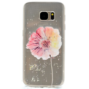 Patterned TPU Gel Cover for Samsung Galaxy S7 edge G935 - Pretty Flower
