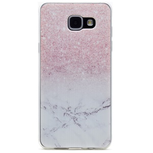 Patterned TPU Phone Case for Samsung Galaxy A3 SM-A310F (2016) - Marble and Glitter Pattern