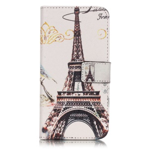 Wallet Leather Stand Case for Samsung Galaxy J3 / J3 (2016) - Eiffel Tower