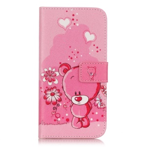 Wallet Leather Magnetic Case for Samsung Galaxy J3 / J3 (2016) - Cute Bear