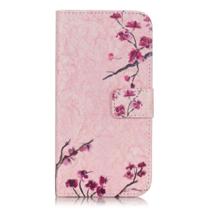 PU Leather Stand Case for Samsung Galaxy J3 / J3 (2016) - Vivid Flowers