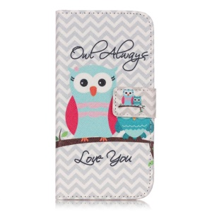 Leather Wallet Cover for Samsung Galaxy J3 / J3 (2016) - Lovely Owls