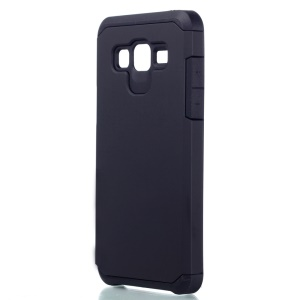 Armor Plastic + TPU Hybrid Case for Samsung Galaxy On5 - Black