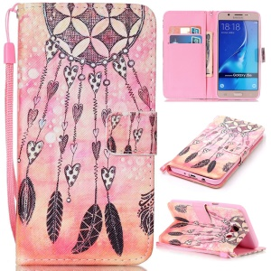 Patterned Leather Card  Slot Case with Lanyard for Samsung Galaxy J5 (2016) SM-J510 - Dream Catcher