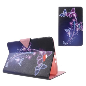 Patterned Wallet Leather Cover for Samsung Galaxy Tab A 10.1 (2016) T580 T585 - Beautiful Butterflies