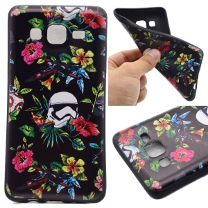 Pattern Printing TPU Phone Case for Samsung Galaxy On5 - Colorful Flowers