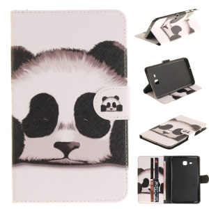 Patterned Leather Wallet Case for Samsung Galaxy Tab A 7.0 T280 T285 - Panda