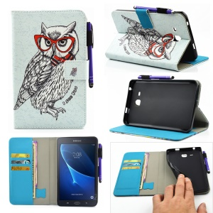 Patterned Stand Leather Shell for Samsung Galaxy Tab A 7.0 T280 T285 - Cool Owl