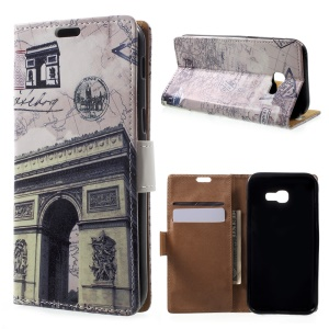 Patterned Leather Wallet Case for Samsung Galaxy A5 (2017) - Triumphal Arch