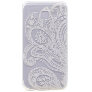 Pattern Printing TPU Case for Samsung Galaxy On7 - Paisley Flowers
