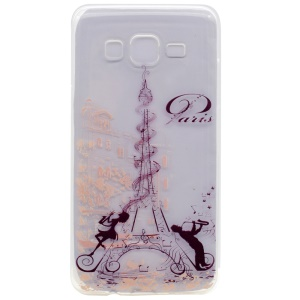 Pattern Printing TPU Phone Cover for Samsung Galaxy On5 - Eiffel Tower and Love Melody