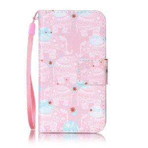 Pattern Design Wallet Leather Cell Phone Cover for Samsung