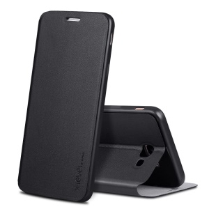 X-LEVEL Flip Leather Stand Case for Samsung Galaxy J7 Prime / On7 2016 - Black