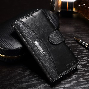 IDOOLS for Samsung Galaxy J7 Prime / On7 2016 Wallet Style Leather Stand Phone Case - Black