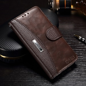 IDOOLS for Samsung Galaxy J7 Prime / On7 2016 Stand Leather Wallet Style Phone Cover - Brown