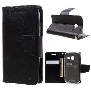 MERCURY GOOSPERY Bravo Diary Wallet Leather Mobile Cover for Samsung Galaxy J1 mini - Black