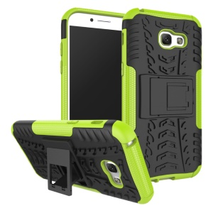 Anti-slip PC + TPU Hybrid Case Accessory with Kickstand for Samsung Galaxy A5 (2017) - Green