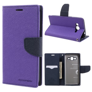 MERCURY GOOSPERY Fancy Diary Leather Mobile Case for Samsung Galaxy J2 Prime - Purple