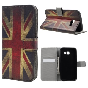 Patterned Magnetic Leather Cover for Samsung Galaxy A5 (2017) - Vintage UK Flag