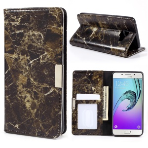 Custodia In Pelle Di Design In Marmo Custodia In Pelle Per Samsung Galaxy A3 SM-A310F (2016) - Nero