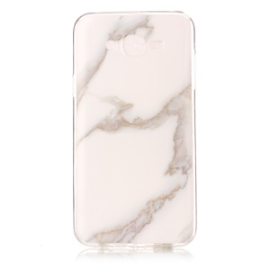 Marble Pattern IMD Soft TPU Jelly  protective Case for Samsung Galaxy J7 SM-J700F -  White
