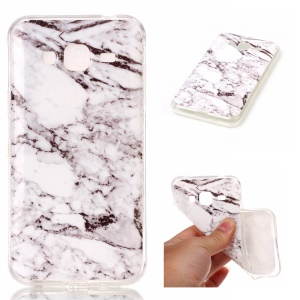 IMD Marble Pattern Gel TPU Mobile Cover for Samsung Galaxy J3 (2016) J310 / J3 - Grey