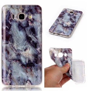 Marble Texture IMD Soft TPU Back Cover for Samsung Galaxy J5 (2016) J510 - Black Blue