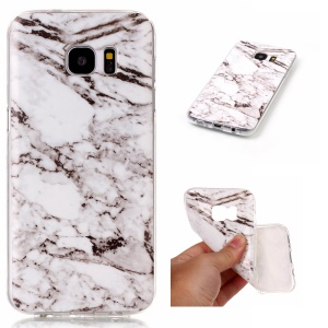 Soft IMD Marble TPU Case Accessory for Samsung Galaxy S7 edge G935 - White