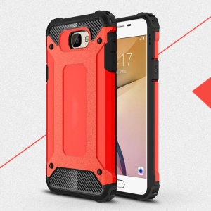 Armor Guard Plastic + TPU Combo Case for Samsung J5 Prime/On5 2016 - Red