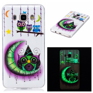 Noctilucent IMD Soft TPU Back Case for Samsung Galaxy J5 (2016) - Owls and Moon