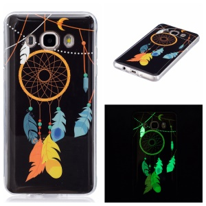 Noctilucent IMD Soft TPU Phone Casing for Samsung Galaxy J5 (2016) - Feather Dream Catcher